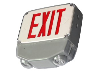 EXIT/EMERGENCY COMBO - Series EXEMWLC