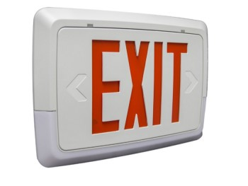 EXIT/EMERGENCY COMBO THERMOPLASTIC - Series EXEMTLLC