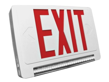 EXIT/EMERGENCY COMBO THERMOPLASTIC - Series EXEMTLPC